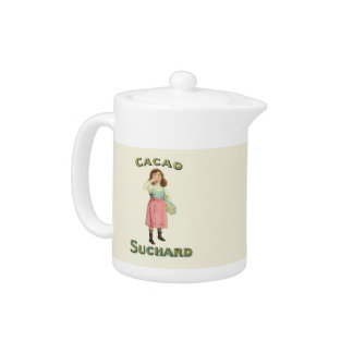Vintage Chocolate Kiss Girl from France Teapot