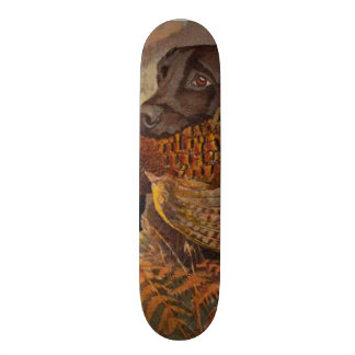 Vintage Chocolate Lab Hunting Skateboard