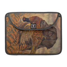 Vintage Chocolate Lab Hunting Sleeve For Macbooks at Zazzle