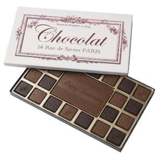 Vintage Chocolate Label Anniversary custom