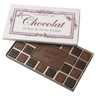 Vintage Chocolate Label Get Well custom