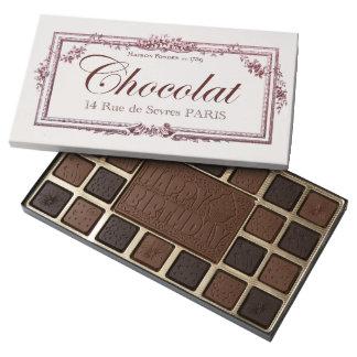 Vintage Chocolate Label Happy Birthday custom