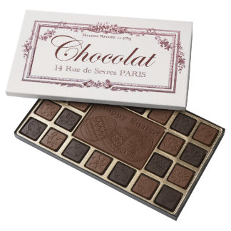 Vintage Chocolate Label Happy Easter custom