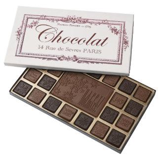 Vintage Chocolate Label Happy Holidays custom