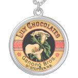 Vintage Chocolate Label Pendants