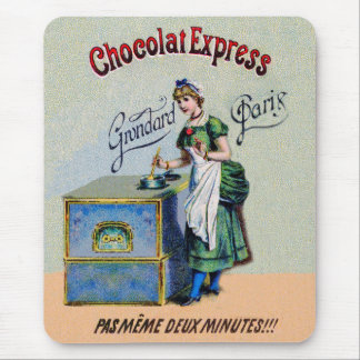 Vintage Chocolate Party Kitchen Art Mouse Pad