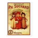Vintage Chocolate Ph. Suchard Ad Post Cards