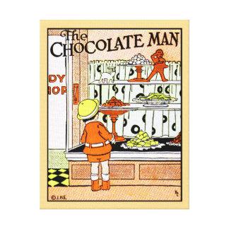 Vintage Chocolate Shop Candy Store Goodies Canvas Print