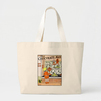 Vintage Chocolate Shop Candy Store Goodies Large Tote Bag