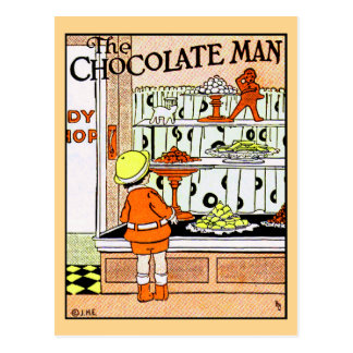 Vintage Chocolate Shop Candy Store Goodies Postcard
