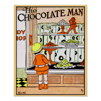 Vintage Chocolate Shop Candy Store Goodies Poster