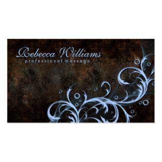 Vintage Chocolate With Elegant Purple Curves Card Double-Sided Standard Business Cards (Pack Of 100)