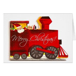 Vintage Choo-Choo Train Christmas Card