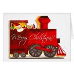 Vintage Choo-Choo Train Christmas Greeting Card