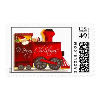 Vintage Choo-Choo Train Christmas Postage