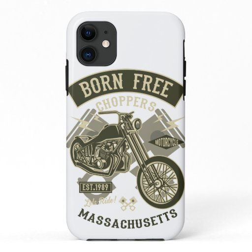 Vintage chopper Motorcycle iPhone 11 Case