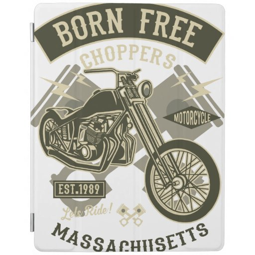 Vintage chopper Motorcycle iPad Smart Cover