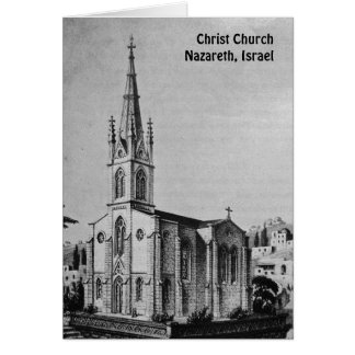 Vintage Christ Church Nazareth Card