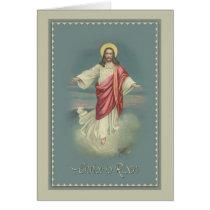 Vintage Christ is Risen Easter Greeting Card