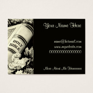 Vintage Christian Art Time is Precious 1872 Business Card