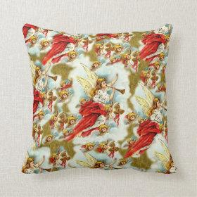 Vintage Christian Christmas Angels & cherubs Pillow