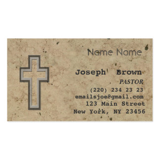Vintage Christian Cross Jesus Spiritual Ministry Business Card Template