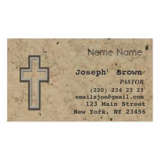 Vintage christian cross jesus spiritual ministry business for Ministry business cards
