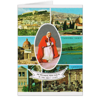 Vintage Christian, Pope Paul VI in the Holy Land Card