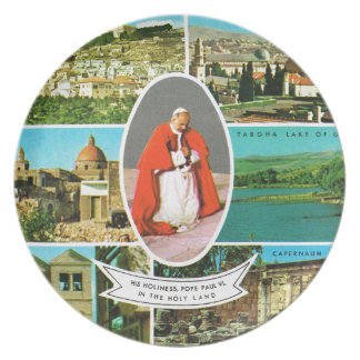 Vintage Christian, Pope Paul VI in the Holy Land Plate