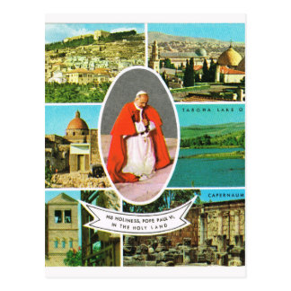 Vintage Christian, Pope Paul VI in the Holy Land Postcard