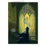 Vintage Christianity, Nun Playing Music in Church Greeting Cards