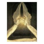 Vintage Christianity Religion Angels Praying Jesus Postcard