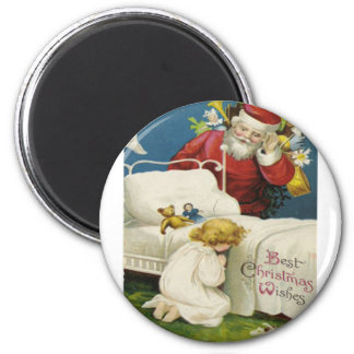Vintage Christmas 2 Inch Round Magnet