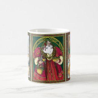 Vintage Christmas, 3 Different Santa Claus Classic White Coffee Mug