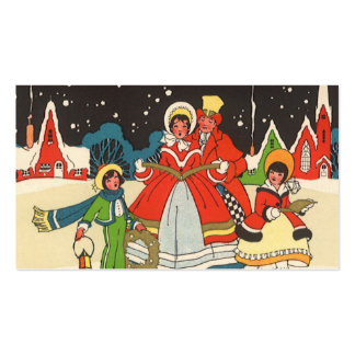 Vintage Christmas, a Family Singing Music Carols Double-Sided Standard Business Cards (Pack Of 100)