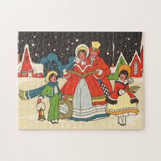 Vintage Christmas, a Family Singing Music Carols Jigsaw Puzzle
