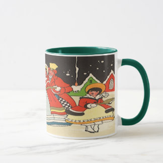 Vintage Christmas, a Family Singing Music Carols Mug