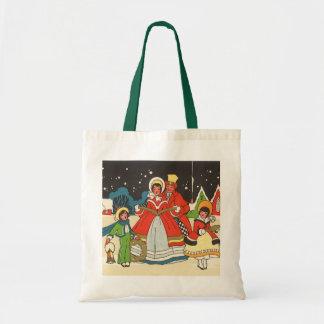 Vintage Christmas, a Family Singing Music Carols Tote Bag