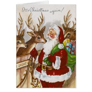 Vintage Christmas Again Card