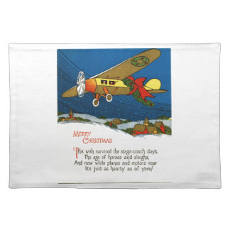 Vintage Christmas Airplane Placemats