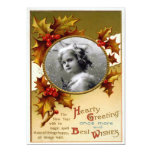 Vintage Christmas and Holy Template Flat Card Invites
