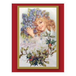 Vintage Christmas and New Year Greeting Card Postcard