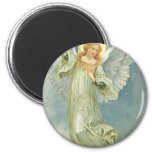 Vintage Christmas Angel 2 Inch Round Magnet