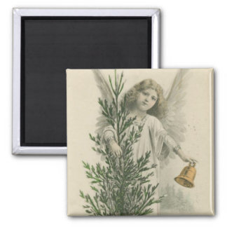 Vintage Christmas Angel 2 Inch Square Magnet
