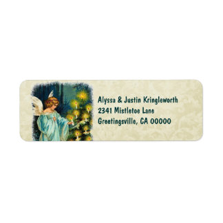 Vintage Christmas Angel and Tree CH501 Label