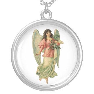 Vintage Christmas Angel, Angelic Victorian Die Cut Custom Jewelry