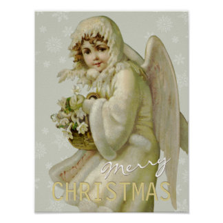 Vintage Christmas angel CC0619 Cardstock Poster