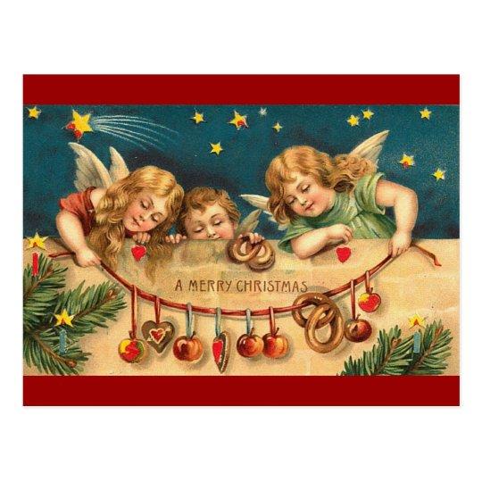 Vintage Christmas - Angel Children Postcard