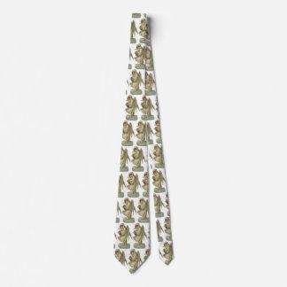 Vintage Christmas Angel Flowers, Victorian Die Cut Neck Tie