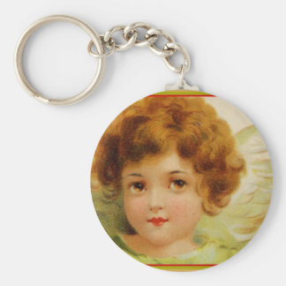 Vintage Christmas Angel Green and Red Keychains